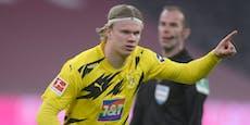 Dortmund-Star Haaland besser als Messi und Ronaldo