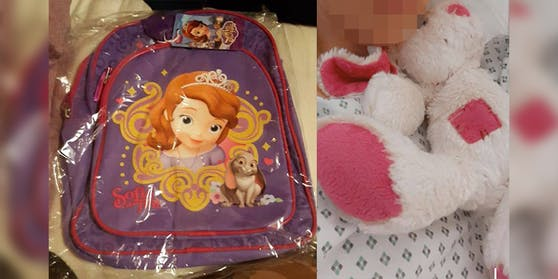 Diesen Rucksack hat die 4-jährige Celine im Bus vergessen.