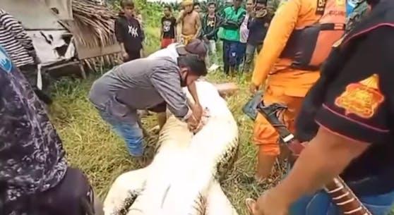 Das Kind wurde im Magen des Krokodils gefunden.