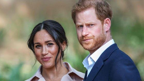Prinz Harry mit seiner Ehefrau Meghan Markle