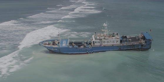 Die «Lurong Yuan Yu» strandete bei Pointe-aux-Sables im Nordwesten der Hauptinsel, nicht weit von Port Louis.