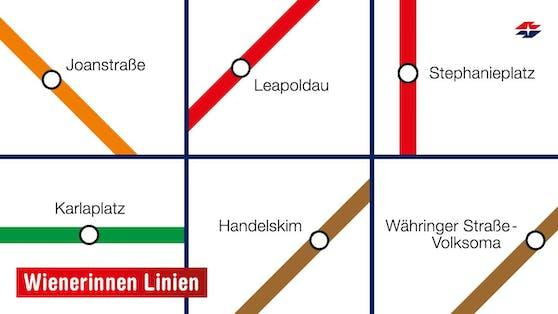 Um ein Zeichen der Gleichberechtigung zu setzen, tauften die Wienerinnen Linien am 8. März ihre Stationen um.
