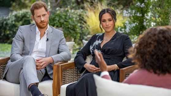 Prinz Harry und Meghan beim Interview mit Oprah