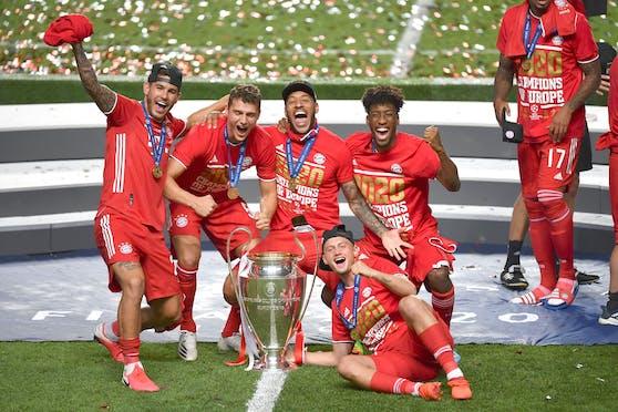 Höhepunkt: Coman erzielte das Goldtor zum Gewinn der Champions-League-Trophäe.