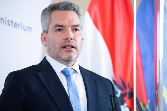 Innenminister Karl Nehammer kritisiert FPÖ-Klubchef Herbert Kickl.
