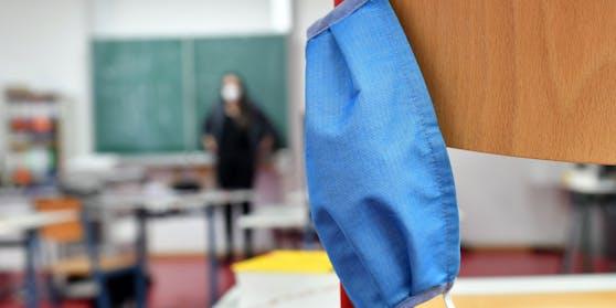 Maskenpflicht im Unterricht.