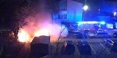 Geparkter Pkw stand in der Nacht plötzlich in Vollbrand
