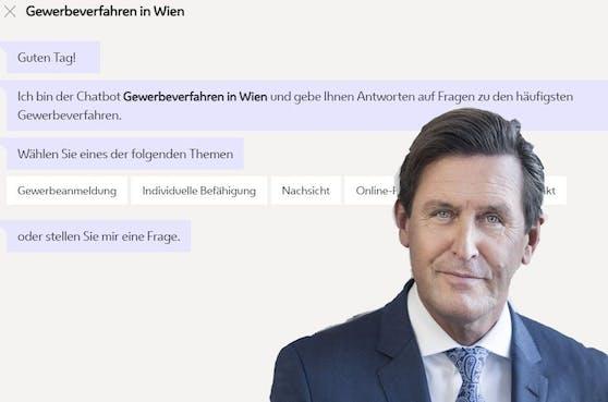 Seit Mitte März beantwortet der Gewerbe-Bot alle Fragen zum Thema Gewerbeverfahren in Wien. Dass dieser gut angenommen wird, freut Wirtschaftsstadtrat Peter Hanke (SPÖ).