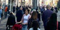 Trotz Lockdowns Menschenmassen am Reumannplatz