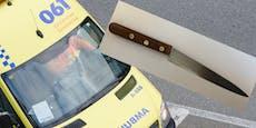 32-Jähriger geht mit Messer auf Rettungssanitäter los