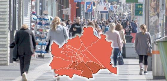 Bereits drei Bezirke in Wien gelten nun als Hochinzidenz-Gebiet