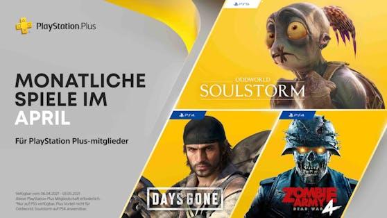 PlayStation Plus-Titel im April für PS4 und PS5.