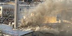 Fleischerei Radatz in Wien-Liesing brennt – Großeinsatz