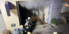 Kellerbrand entfachte wieder, Stundenlanger Einsatz