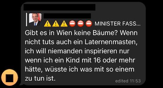 Die Nachricht über Bildungsminister Faßmann