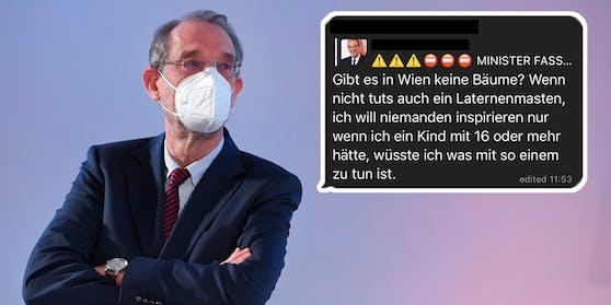 Bildungsminister Heinz Faßmann macht sich bei den Impf-Gegnern keine Freunde