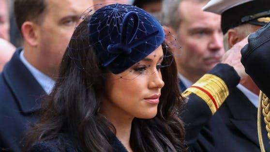 Herzogin Meghan, hier beim Remembrance-Gedenken 2019, wird bei der Trauerfeier von Prinz Philip über einen VIP-Livestream mit dabei sein.