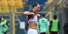 Ibrahimovic fliegt bei Milan-Sieg mit Rot vom Platz