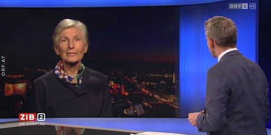 Irmgard Griss in der ZIB 2 bei Martin Thür