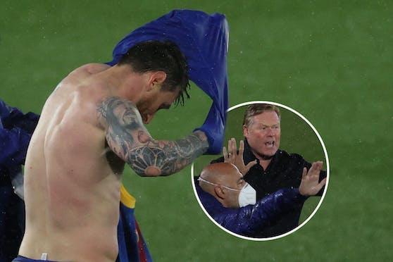 Enttäuscht: Messi. Wütend: Koeman.
