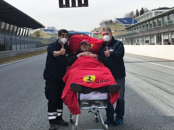 Die Rollenden Engel erfüllten dem schwer kranken Formel 1-Fan Jürgen seinen größten Wunsch.