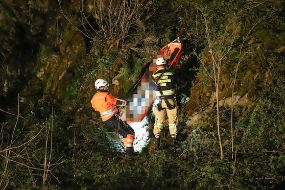 Bei der A26-Baustelle stürzte der 30-Jährige rund 70 Meter in die Tiefe.