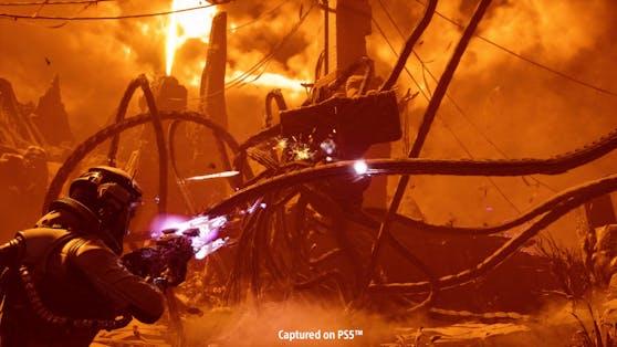 """""""Returnal"""" ist ein Third-Person-Actionspiel vom finnländischen Entwickler Housemarque, das am 30. April 2021 exklusiv für PlayStation 5 erscheint."""