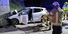 Lenker (32) prallt mit Auto gegenSteinmauer – tot