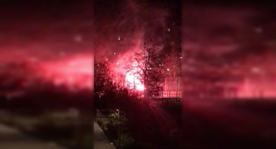 Pyroparty im Wiener Schubertpark in Währing