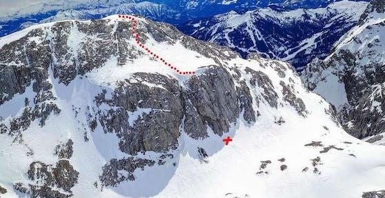 Diese Felswand am Kleinen Bratschenkopf stürzte der 49-jährige Mann hinunter.