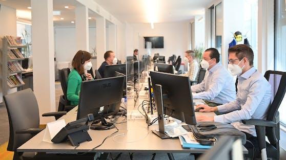 "Der ""Heute""-Newsroom in der Wiener City."