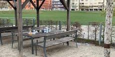 Wiener vermüllen bei Wodka-Partystrotz Lockdowns Park