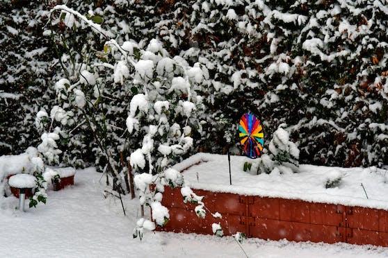 Schnee in Niederösterreich Mitte April.