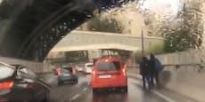 Wiener riskieren ihr Leben zu Fuß auf Schnellstraße
