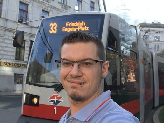 Daniel S. (33) ist seit 2009 Straßenbahn-Lenker.