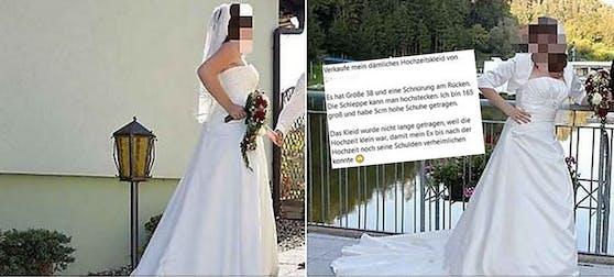 Eine 27-jährige Grazerin verkauft online ihr Hochzeitskleid - und rechnet so auch gleich mit ihrem Ex ab.