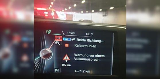 Ein Wiener bekam eine sehr kuriose Warnung von seinem Navigationssystem