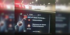 BMW-Navi warnt vor Vulkanausbruch in Kaisermühlen