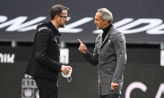 Adi Hütter und Fredi Bobic verlassen die Eintracht.