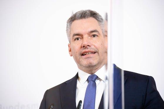 Innenminister Karl Nehammer (ÖVP).