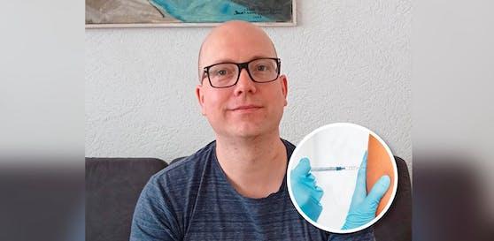 In zwei Monaten wird sein erstes Kind geboren. Auf die Corona-Impfung muss Michael Schönbauer noch warten.