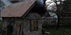 Brand einer Hütte entpuppte sich als Brotbacktag