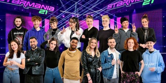 """Die 16 Finalistinnen und Finalisten von """"Starmania 21"""" müssen einmal mehr auf das Publikumsvoting verzichten."""