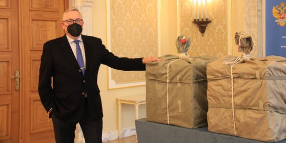 Kisten voll mit Sputnik V landeten am Donnerstag in Wien