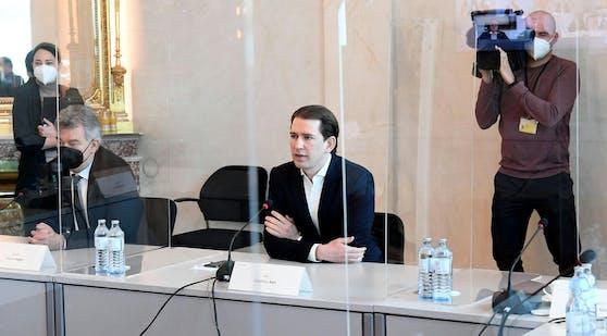 Bundeskanzler Sebastian Kurz während des Öffnungsgipfels am Freitag.