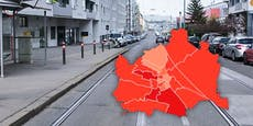 Drei Bezirke bereiten Sorgen – die Wiener Corona-Karte