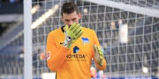Corona: Hertha-Keeper im Spital, drei Spiele abgesagt
