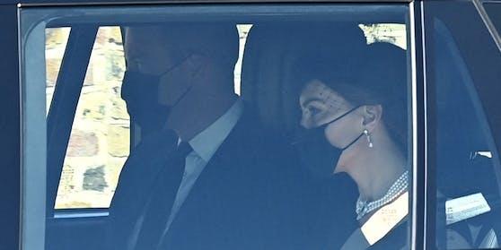 Prinz WIlliam und Herzogin Kate sind bei der Ankunft gesichtet worden.
