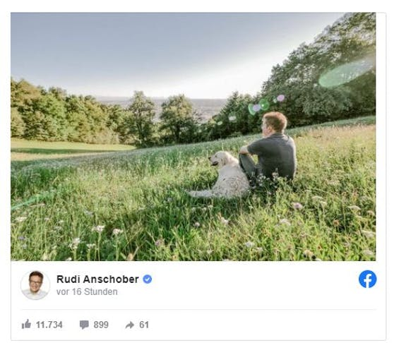 Altes Foto, neues Leben: So zeigt sich Anschober nach seinem Rücktritt auf Facebook.