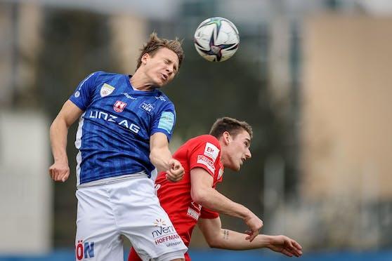 Blau Weiß Linz gewinnt gegen Vorwärts Steyr.